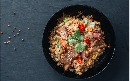 Рис з свининою