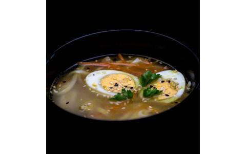 Азійській курячий суп з локшиною